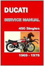 DUCATI Workshop Manual 450 MK3 Desmo SCR 1969 1970 1971 1972 1973 1974 1975 1976