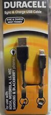 Duracell Sync & Charge USB Cable. Designed For Use With Most Phones.