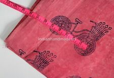 By The Yard Hand block Print Fabric Indian Cotton Jaipur Sanganer Natural Color