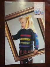 THE BOUTIQUE COLLECTION KNITTING PATTERN CHILDRENS JUMPERS - 5 & 8 PLY