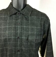 Tommy Bahama Men's Size L/G Large Black Polyester Button-Front Check Shirt