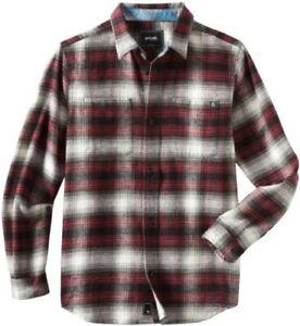 Rip Curl Half Mast Men's Flannel Shirt Stone Size Large