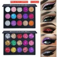 Shimmer Glitter Eye Shadow Powder Palette Matte Eyeshadow Cosmetic Makeup Kit UK