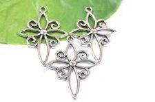 5Pcs Retro Style Tibet silver beautiful Flower alloy charm pendant X623