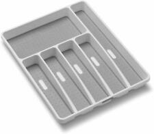 madesmart Classic Large Silverware Tray - White |Classic Collection | 6-Compartm