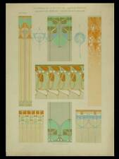 DECORATIONS MURALES, RENE BEAUCLAIR -1904- LITHOGRAPHIE, ART NOUVEAU