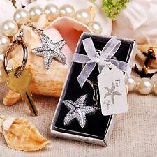 Porte-clés thème mer étoile de mer effet argenté forgé bonbonnière utile