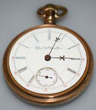 18s 17j Pocket Watch Running Rare 1896 Elgin Gm Wheeler 147 5