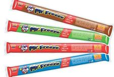 MR FREEZE ICE POPS LOLLIES 28 x 90ml 4 FLAVOUR LONG DATED WEDDING FAVOURS KIDS