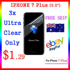 "3x LCD HQ Ultra Clear Screen Film Display Protect Apple Guard iphone7 Plus 5.5"""
