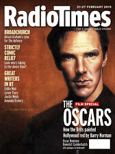 Radio Times Magazine,Benedict Cumberbatch,Barry Norman,Rembrandt,OSCARS COVER 2