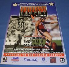 1994 AFL Footy Record 4 Page Guide St. Kilda Collingwood Pre Season Challenge