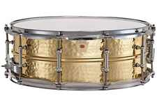Ludwig LB420BKT Hammered Brass 5x14 Snare Drum Chrome Hdw/Tube Lugs FREE US Ship
