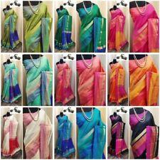 Cotton Khadi Silk Saree Indian Traditional Women's Wear Designer Women Wear