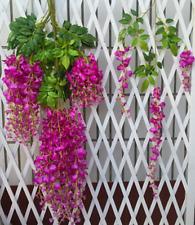 Wisteria Flowers Vine Silk Flower Wedding Garden Party Hanging Decor Peachy