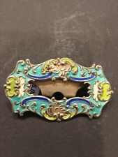 Enamel Clip Sterling 276 Antique 1800's French Victorian