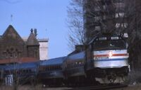 AMTRAK Railroad Locomotive 290 HARTFORD CT Original 1985 Photo Slide
