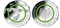 """5 Euro Gemäßigte Zone Deutschland 2019 Stempelglanz """"G"""" Karlsruhe"""