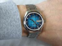 Vintage Seiko Lord Matic LM Special 5216-7070 Rare Blue Dial Mens Watch