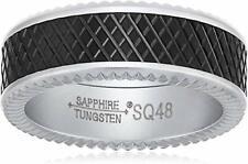 Finish Matte Titanium Interior Comfort. Sapphire Tungsten 8mm Black Crosshatch