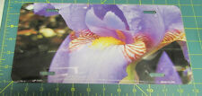 Beautiful New Novelty Metal license plate Close up of Orchid Pretty Purple