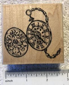 Vintage Antique Timepiece Pocket Watch G1039 2002 Stampabilities Rubber Stamp