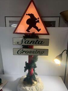 Vintage Gemmy 4 Foot Plastic Lighted Christmas Decoration-rare!!