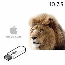 MACBOOK MAC OSX LION 10.7.5 USB INSTALLER BOOTABLE REPAIR FIX PRO AIR IMAC OS X