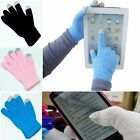 Women/Men Knitted Wool Hand Wrist Warm Fingered Winter Touch Screen Gloves Gift
