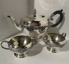 Vintage Old English Silver Tea Pot Set