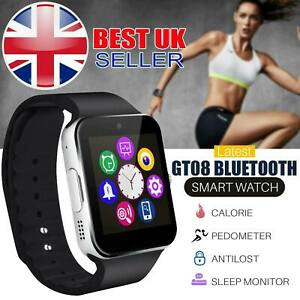 2020 GT08 Bluetooth Smart Watch Camera For Android iOS GSM GPRS SIM TF Card Slot