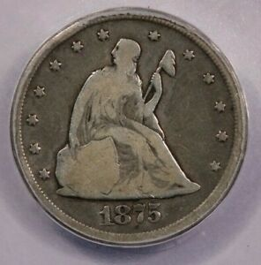 1875-CC 1875 Seated Liberty Twenty Cent ICG G6