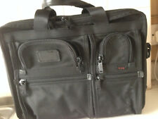 Gently used Tumi 26141 DH Alpha laptop briefcase black ballistic nylon