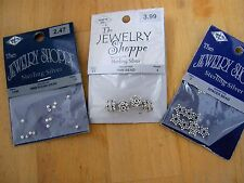NEW STERLING SILVER 925 THE JEWELRY SHOPPE BALI, DAISY SPACER BEADS 35PC, 3PKS