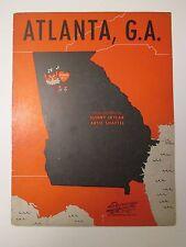 Vintage 1945 Atlanta G.A. GA Sunny Skylar Vocal Sheet Music