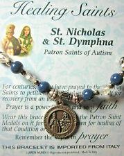 Healing Saints Stretch Charm Bracelet St Nicholas & St Dymphna Patrons of Autism