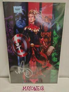 Captain Marvel #16 Virgin Variant signed by Mark Brooks NM