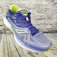 Saucony Ride 10 Women's Athletic Running Shoes Size 9.5 Purple Yellow S10373-1