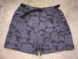 "RARE Patagonia Men's River Shorts 5"" Large Grey Purple Liner VTG 57083"