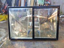 A&L Single Glazed Aluminium Sliding Window - Black - 1820w x 1210h