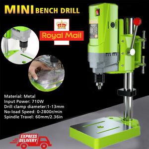 710W Drilling Bench Press Rotary Pillar 5 Speed Drill Workbench Tool UK Plug