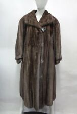 EXCELLENT CANADIAN LUTETIA MINK FUR COAT JACKET WOMEN WOMAN SIZE 10-12 M-L