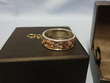 Welsh Clogau Silver & Rose Gold Tree Of Life Ring Size M RRP £189