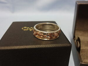 Size R NEW Welsh Clogau Silver /& Rose Gold Tree of Life Flower Ring £70 off