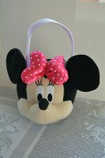 Disney Minnie Mouse Plush Halloween Costume Bucket Easter Basket Pail Pink Tote