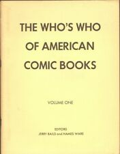 The Who's Who of American Comic Books #1 FINE 1973