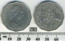 Australia 1979 - 50 Cents - Elizabeth II - two parallel bars behind Emu's head