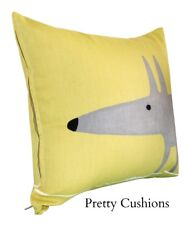 Scion Mr Fox Yellow Cushion Cover 12''