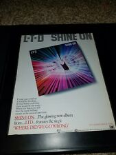 L-T-D Shine On Rare Original Promo Poster Ad Framed!