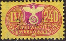 Germany WW2 Third Reich Wehrmacht Invalides Swastika Eagle stamp 1942 MNH DM2.40